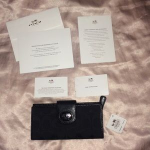 Coach Signature Collection Black on Black Wallet